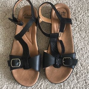 Clark's soft cushion sandals.
